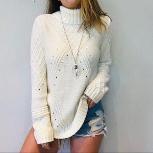 Venue chunky oversized turtleneck sweater